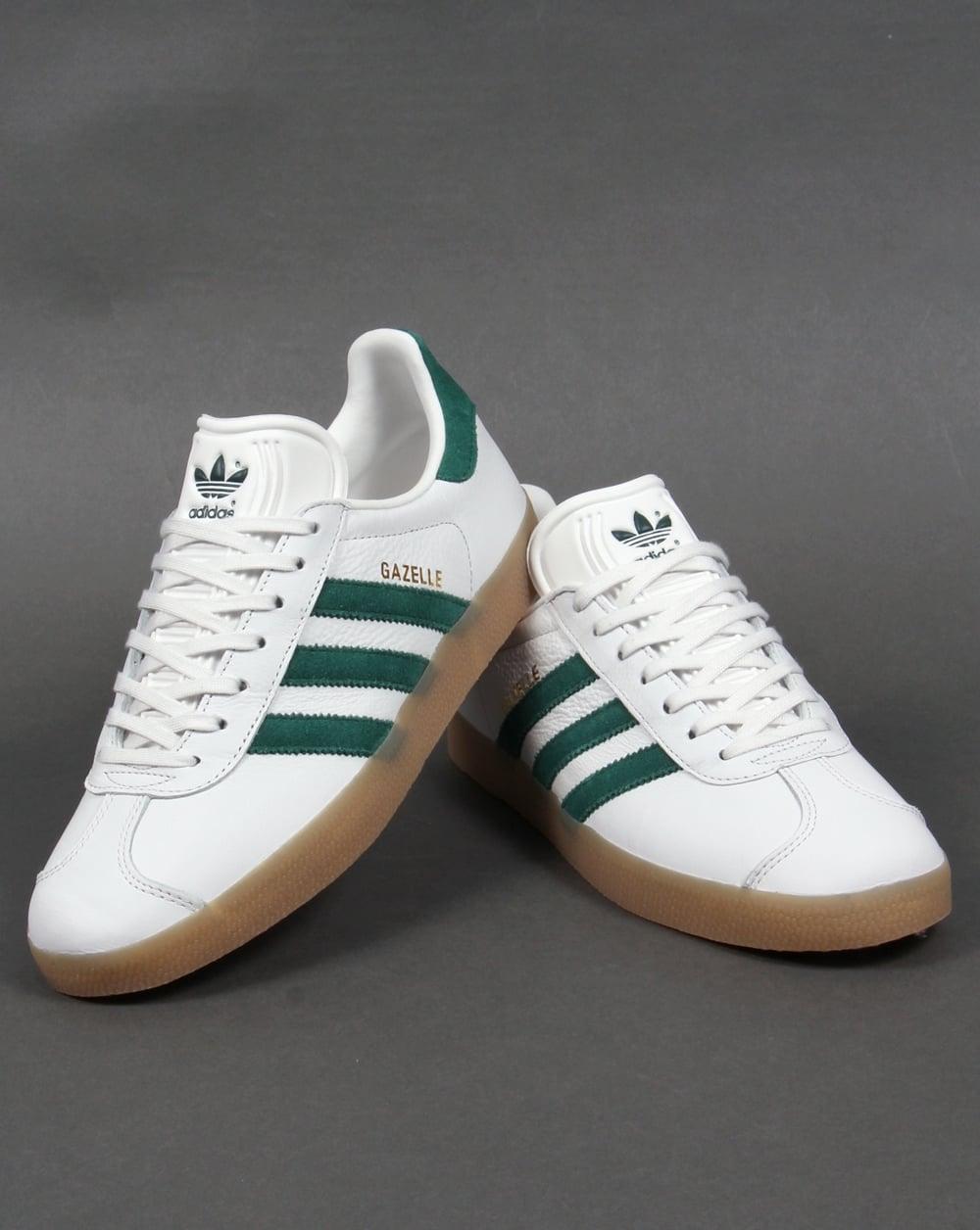 green adidas gazelle trainers