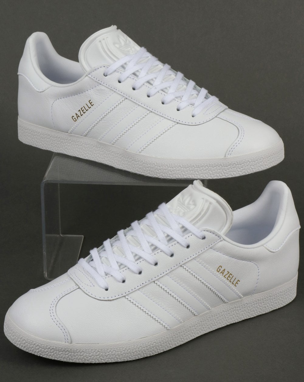 1dacc60d5a44 Adidas Gazelle Leather Trainers in White
