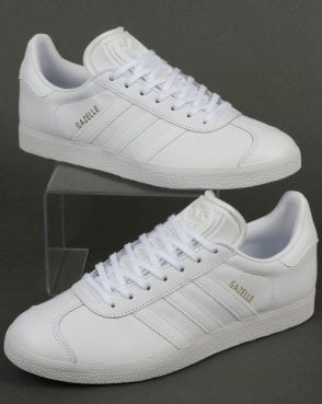adidas Trainers Adidas Gazelle Leather Trainers in White