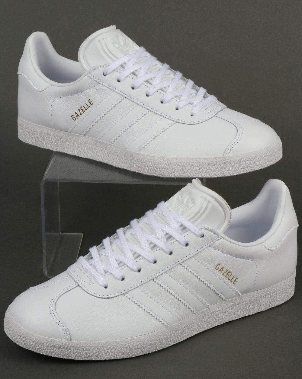 gazelle adidas white leather cheap online