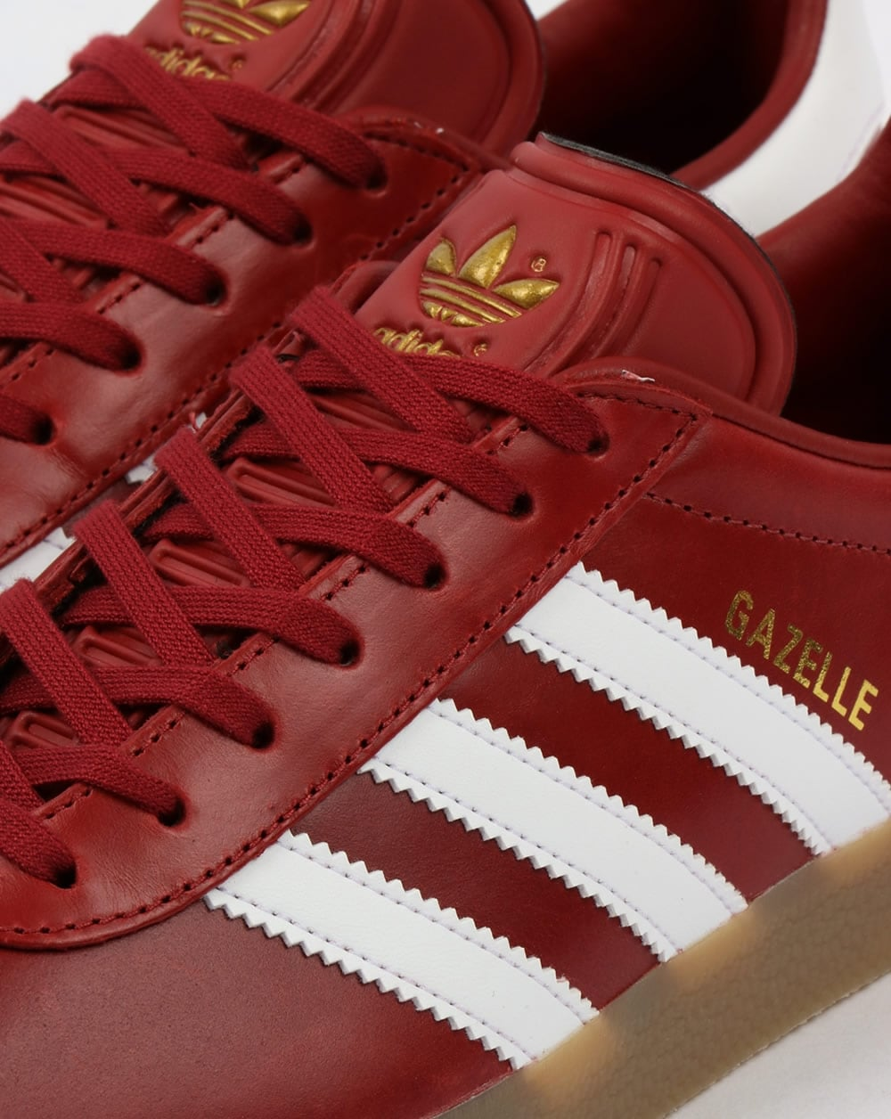 separation shoes b0494 3b77f Adidas Gazelle Leather Trainers Oxblood RedWhitegum