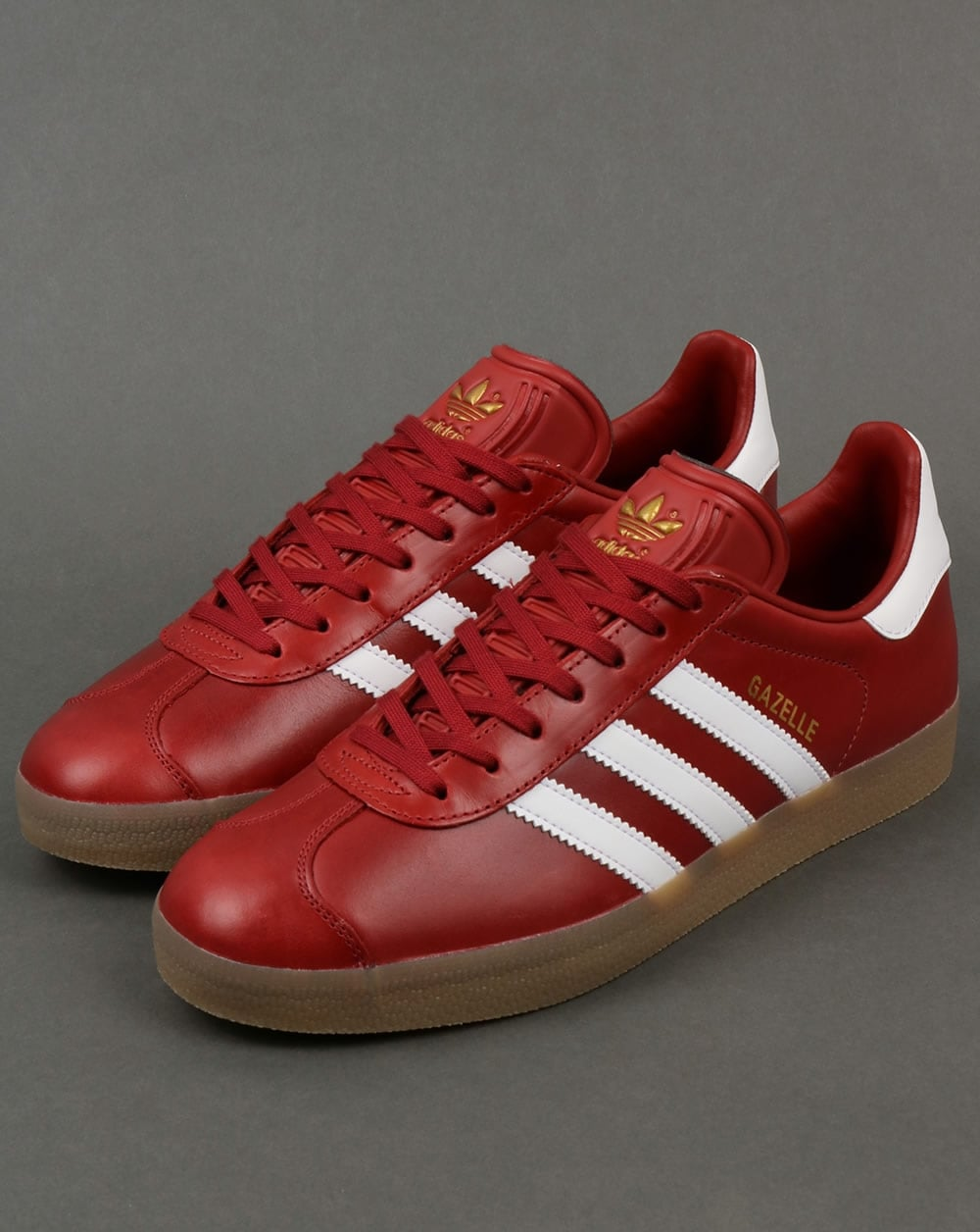 Adidas Gazelle, Trainers, Leather, Oxblood, Red, Originals ...