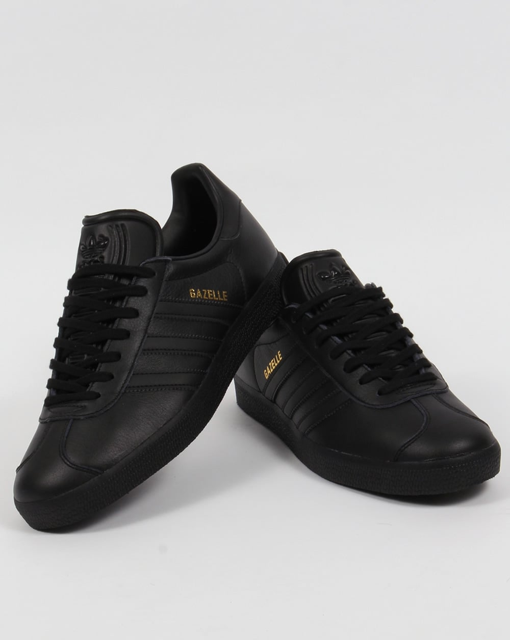 1e6ec5066e84 Adidas Gazelle Leather Trainers Triple Black