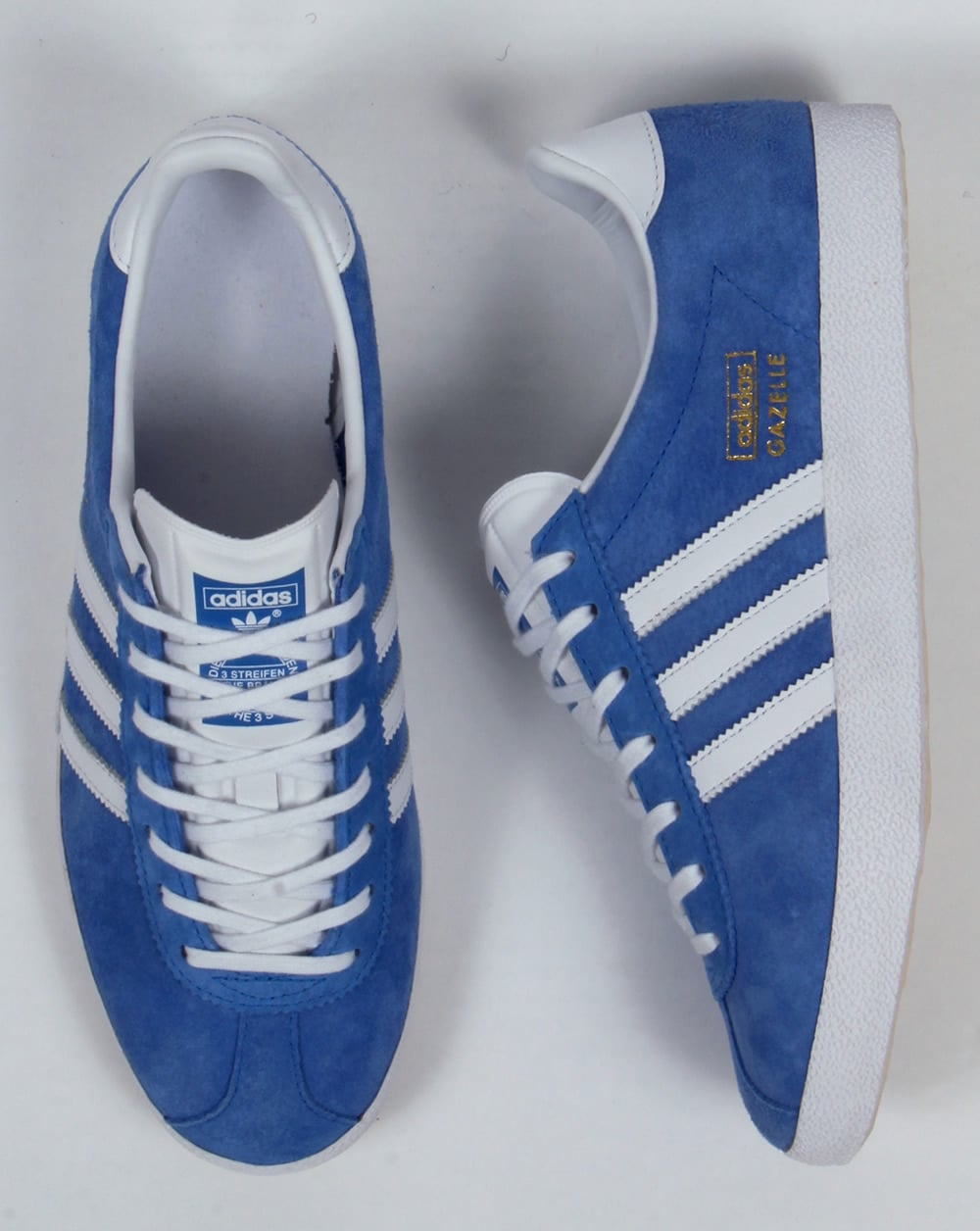 brand new classic quite nice Adidas Gazelle OG Trainers Airforce Blue/white