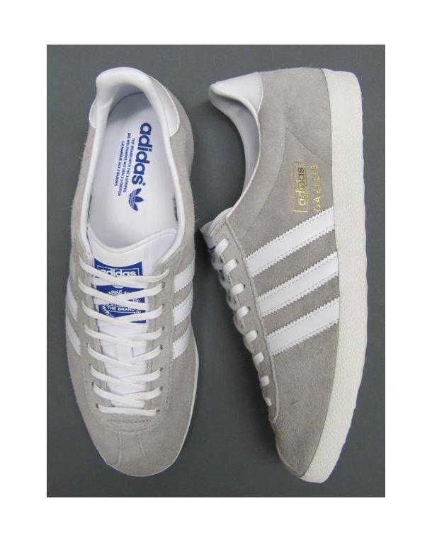 Adidas Gazelle Og Trainers In Aluminium Grey/White