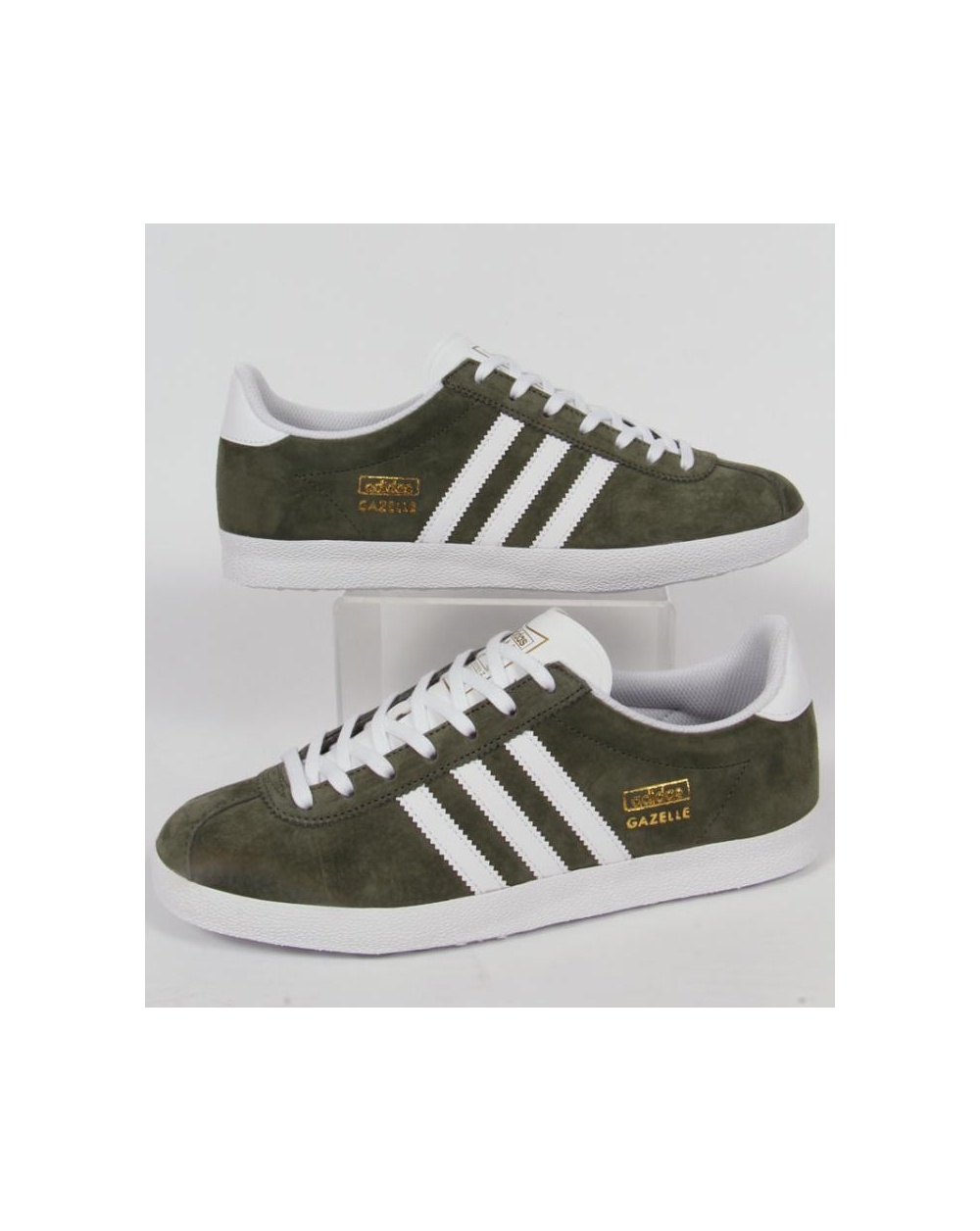 timeless design 6b37e 44a51 adidas Trainers Adidas Gazelle OG Trainers Base GreenWhite