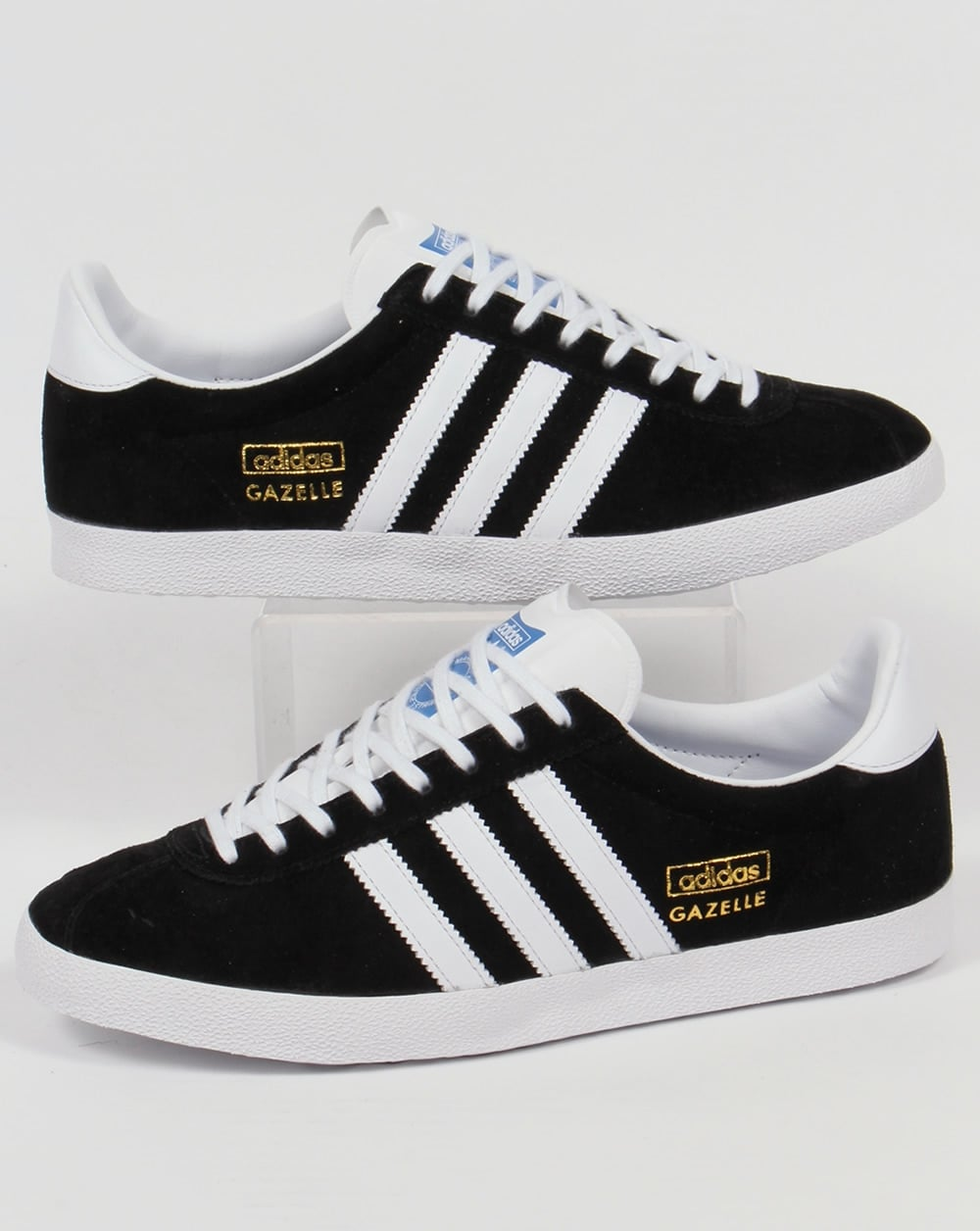 adidas gazelle black and blue