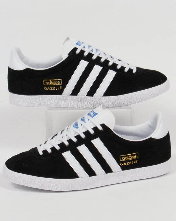 new styles on feet at genuine shoes Adidas Gazelle OG Trainers Black/White