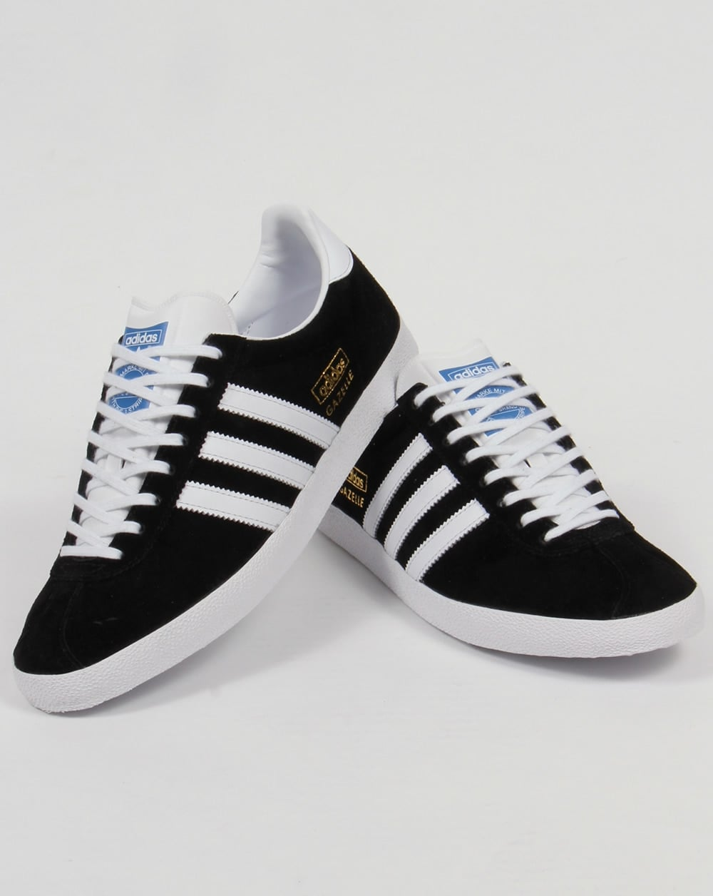 black and white adidas gazelle