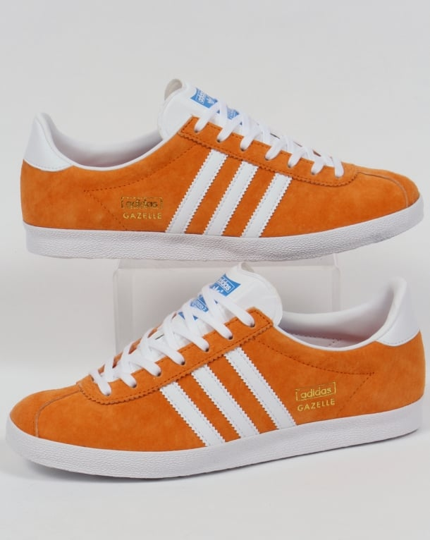 Adidas Gazelle OG Trainers Bright Orange/White