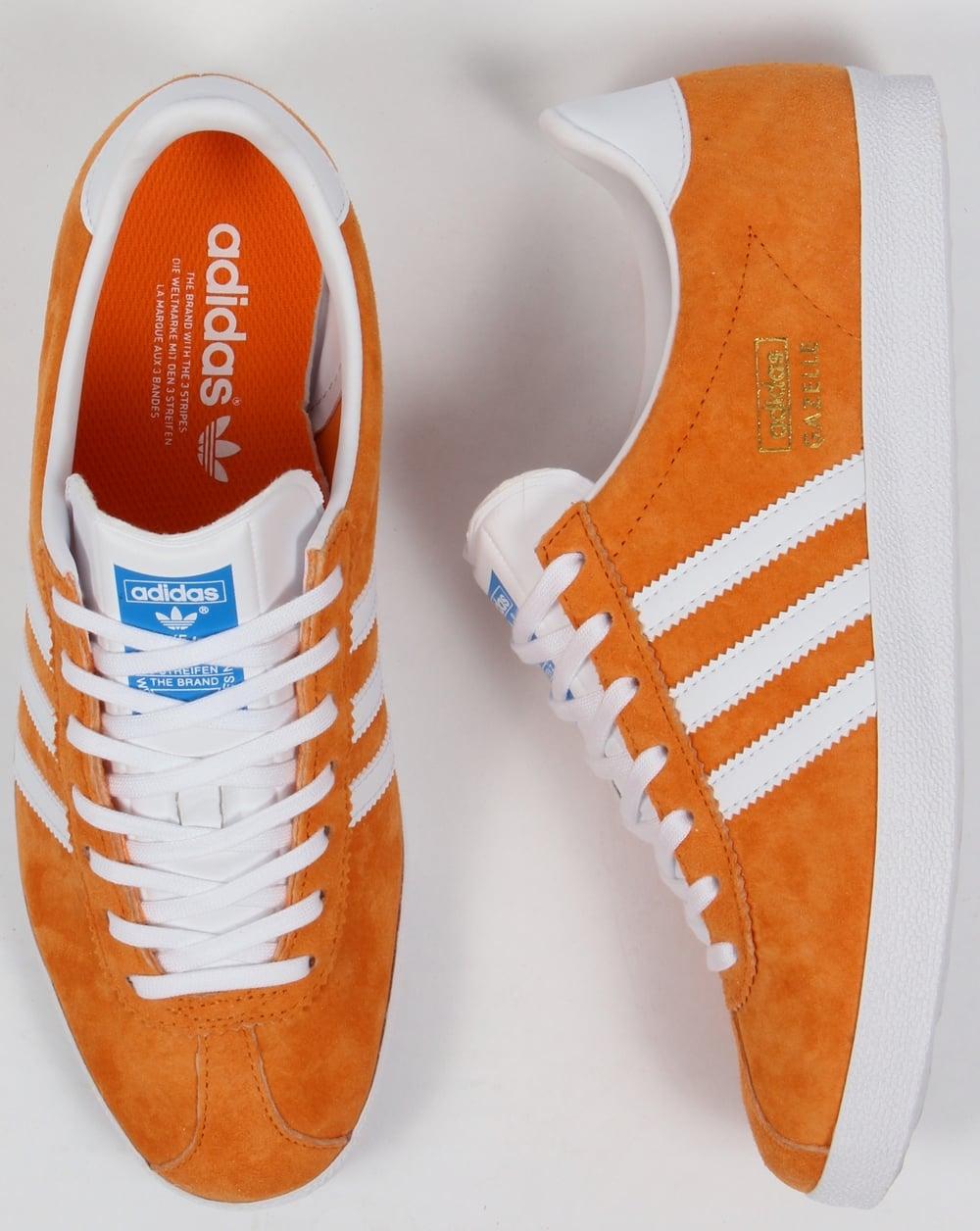 Adidas Gazelle OG Trainers Bright Orange/White