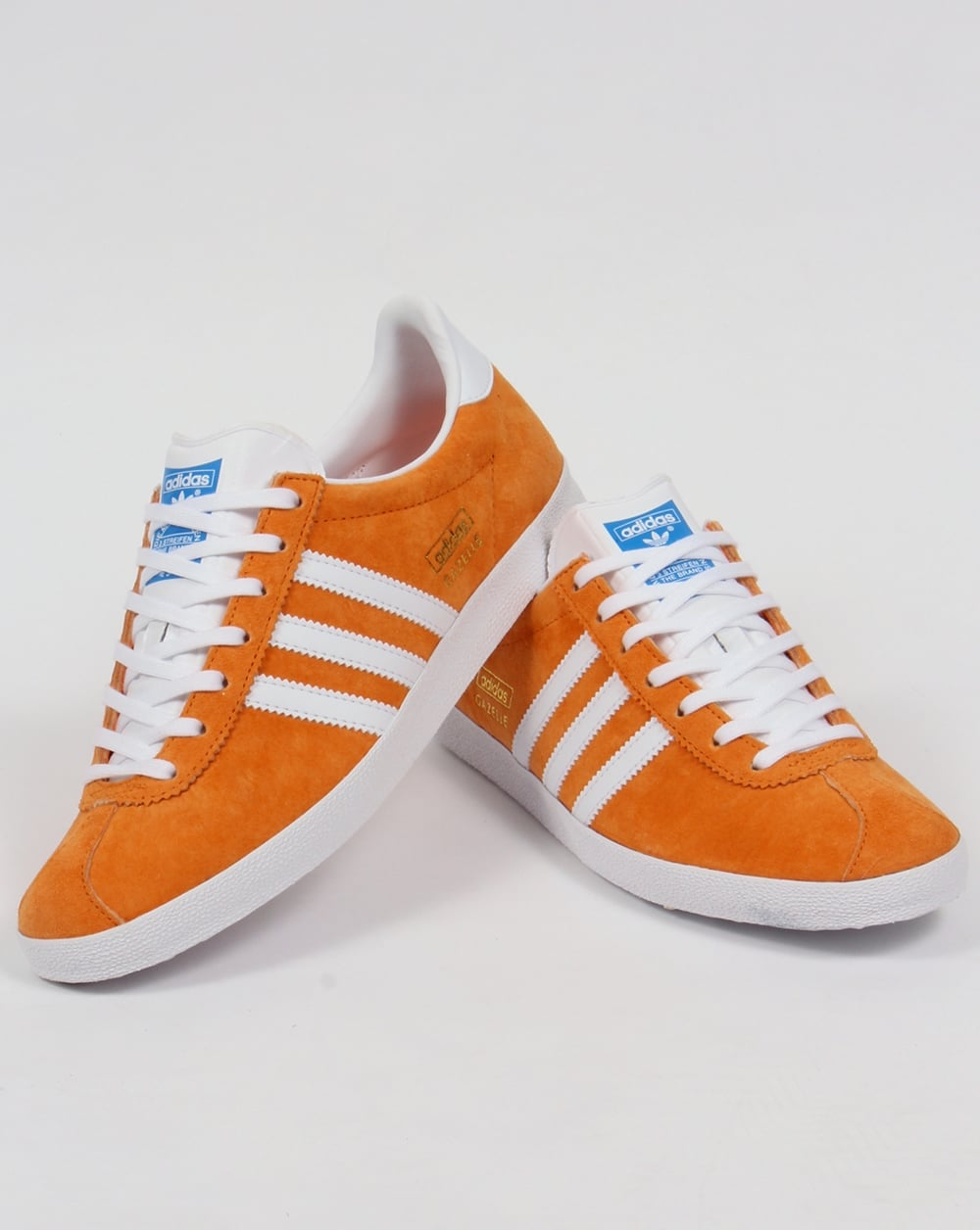 adidas gazelle og orange and black
