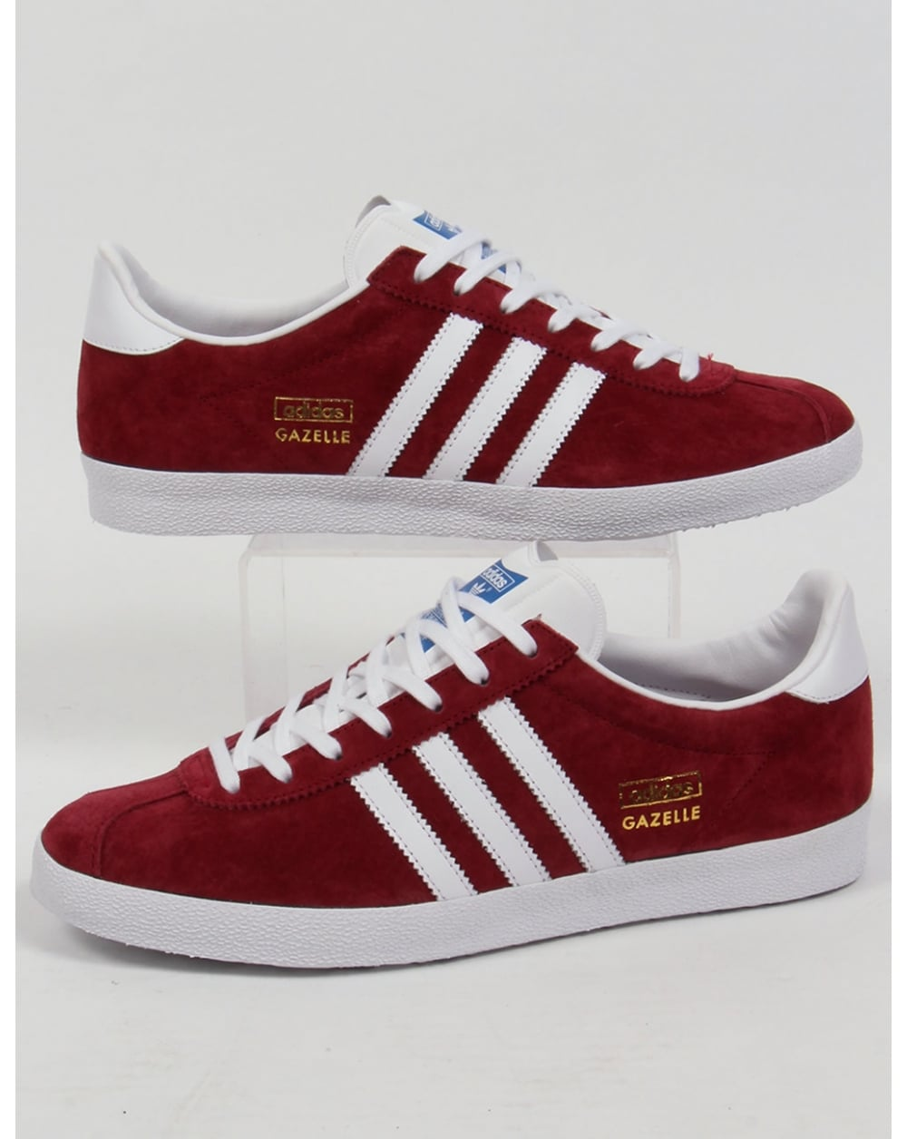 Adidas Gazelle OG Trainers Burgundy/white