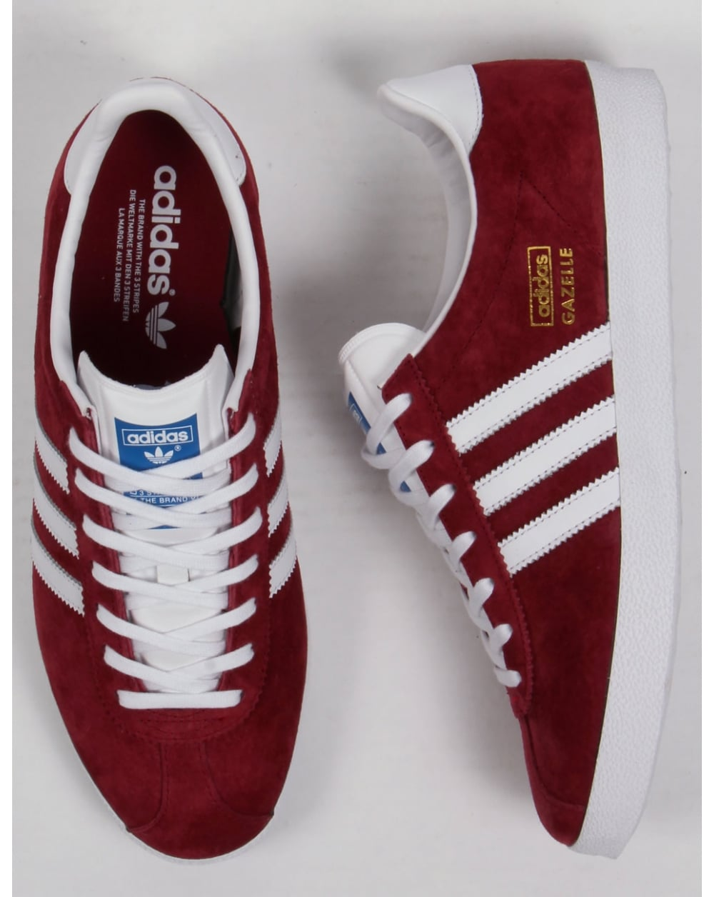 Mens Adidas Shoes Gazelle Red