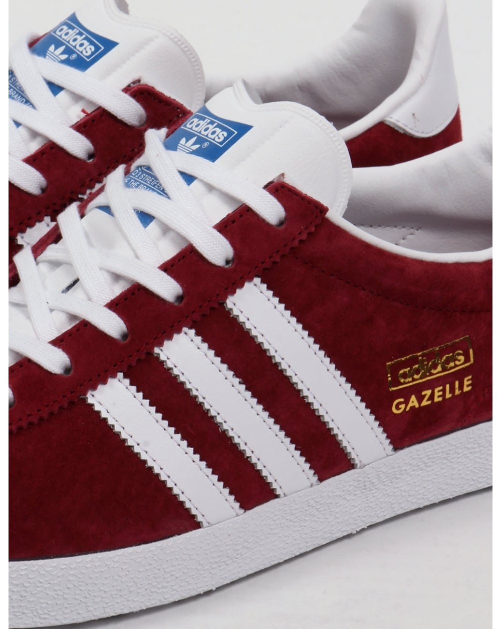 Adidas Originals Gazelle Og Trainers Burgundy