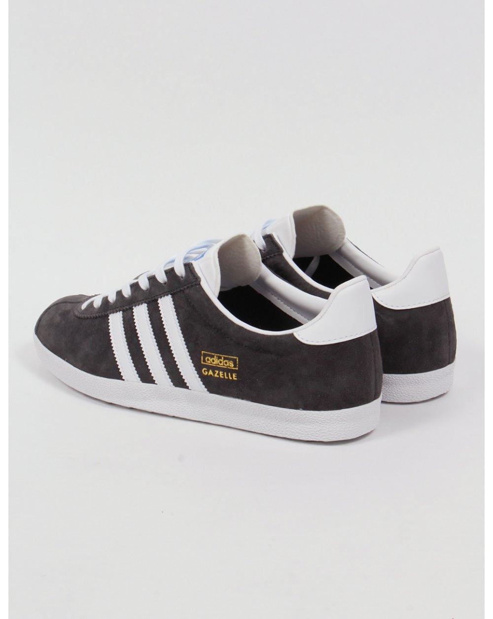 3a9623dfbd7233 Adidas Gazelle OG Trainers Dark Grey White