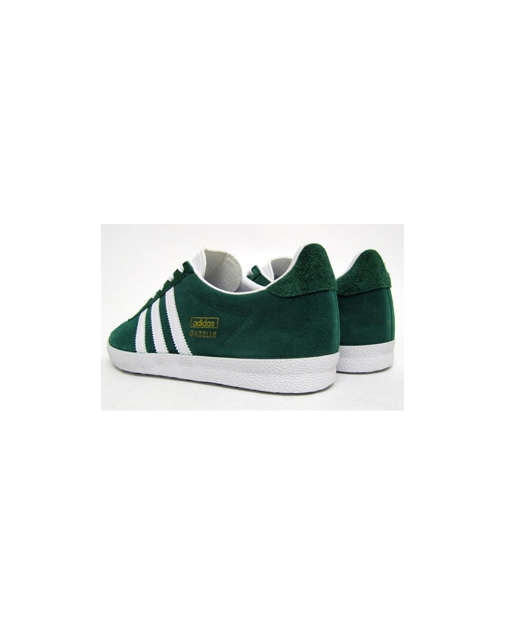 Adidas Gazelle Og Trainers In Forest Green/White