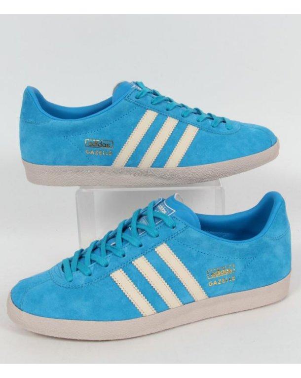 Adidas gazzella og formatori solare blu / bianco, originali, Uomo