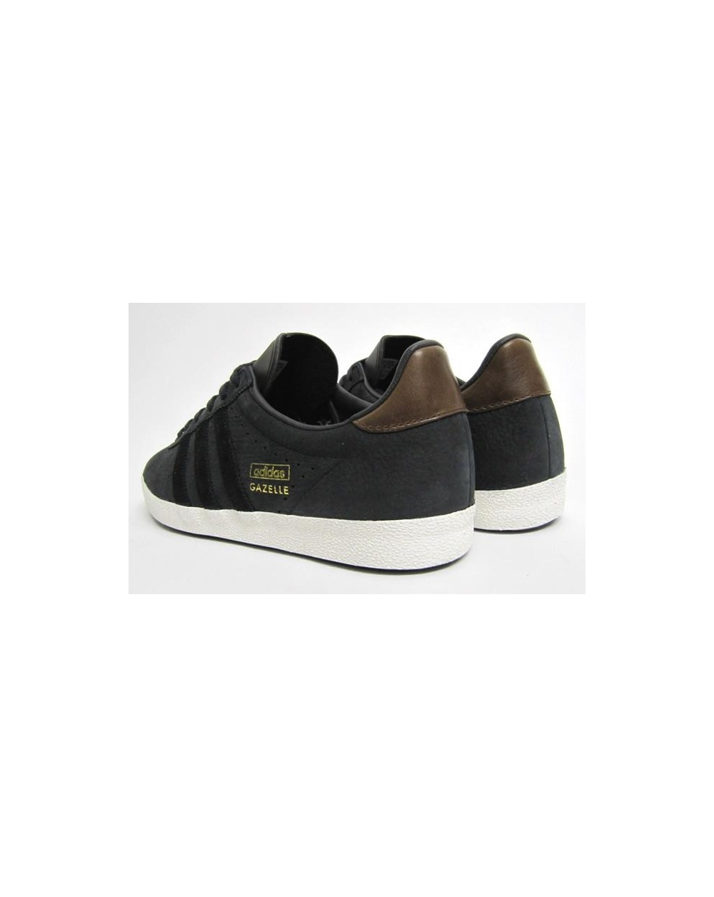 mens adidas gazelle black leather