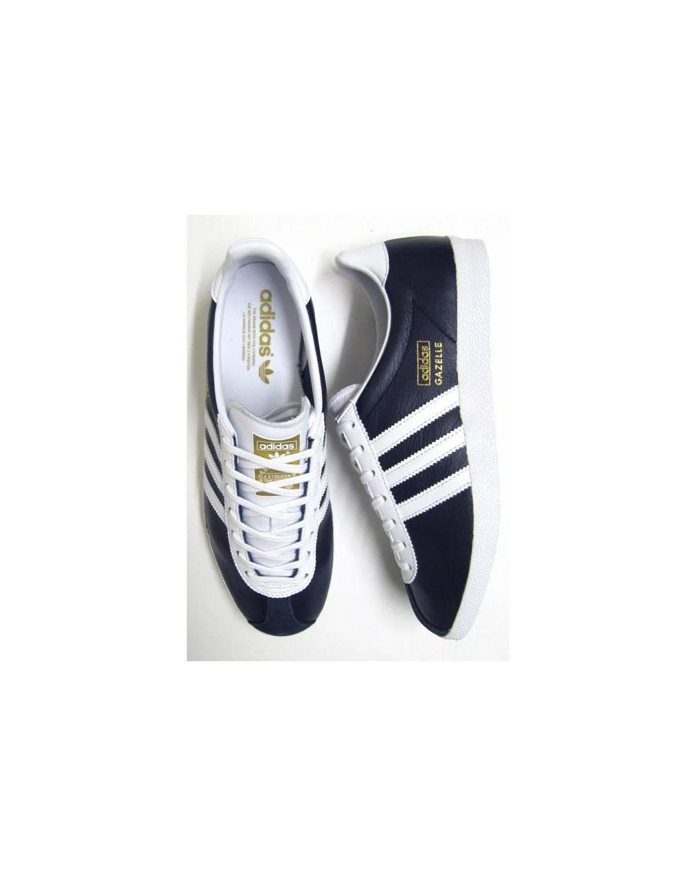 adidas gazelle leather navy