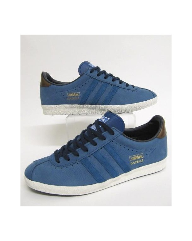 new product d126e 0c1e0 Adidas Gazelle Og Leather Trainers In Navy BlueWhite