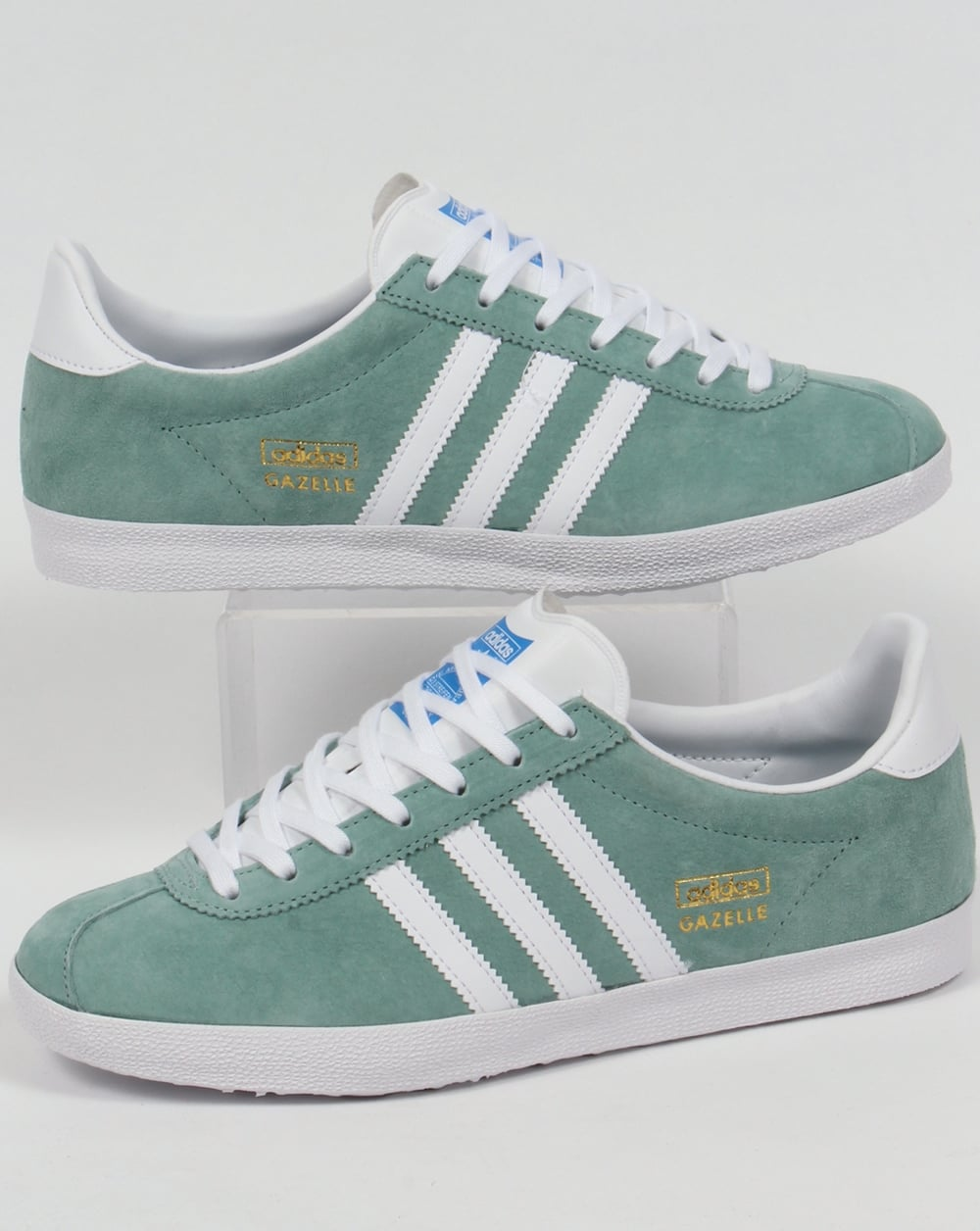 outlet store af945 04e1f adidas Trainers Adidas Gazelle OG Trainers Legend GreenWhite