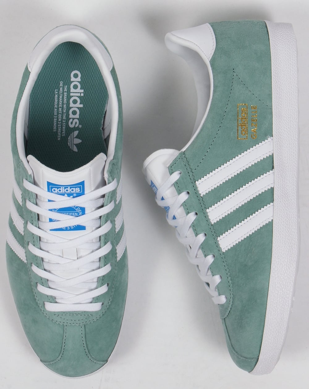 Adidas Gazelle Og Forest Green Suede Trainers