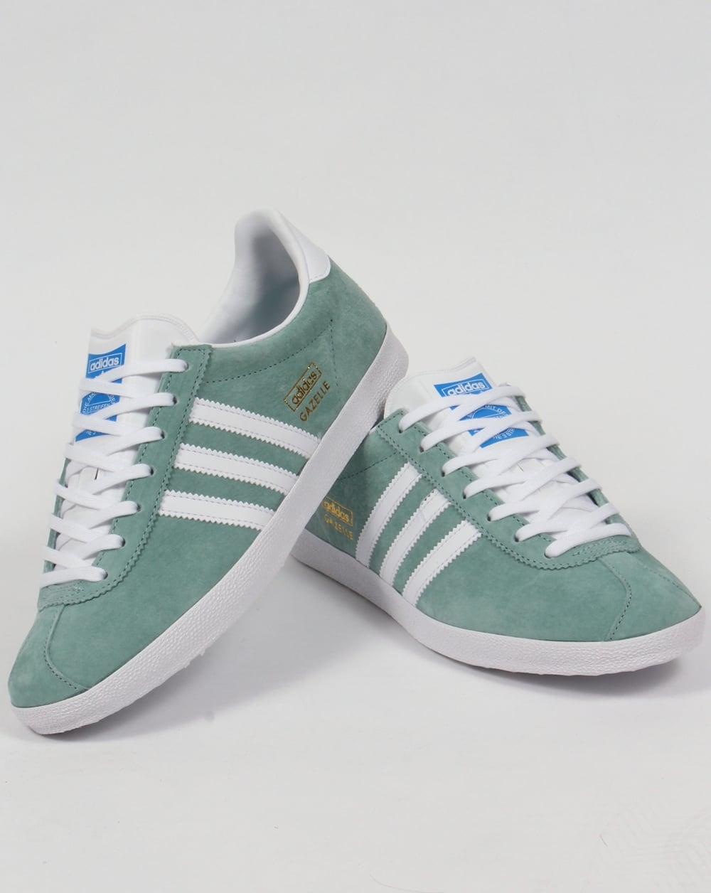 adidas gazelle og trainers legend green white originals. Black Bedroom Furniture Sets. Home Design Ideas