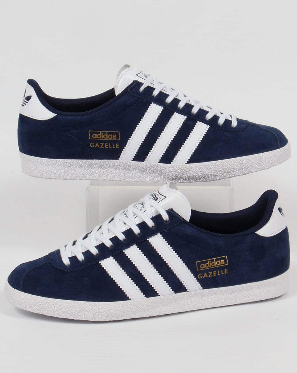 Adidas Originals Gazelle Men/'s Classic Casual Retro Vintage Trainers Navy