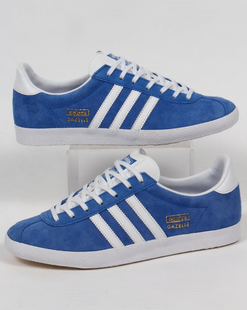 Buy adidas gazelle blue leather   OFF42% Discounted 0ed278026cff