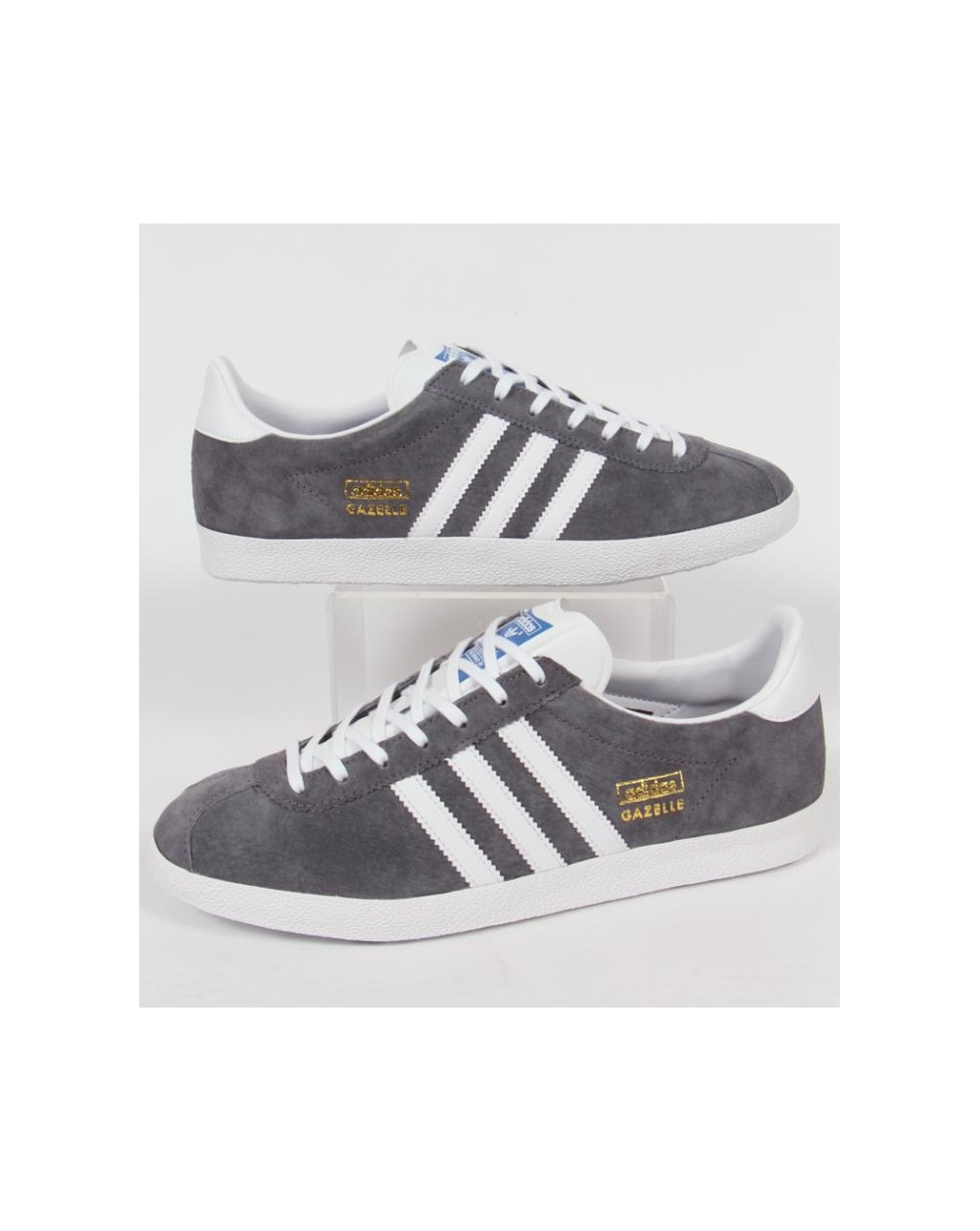 adidas Trainers Adidas Gazelle Og Trainers Sharp Grey White d4570d10c