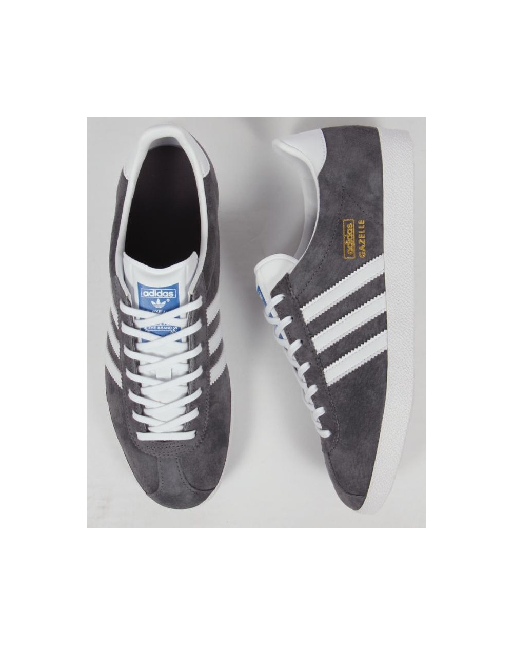 confesar mariposa Tesauro  Adidas Gazelle Og Trainers Sharp Grey/White, originals, Adidas ...