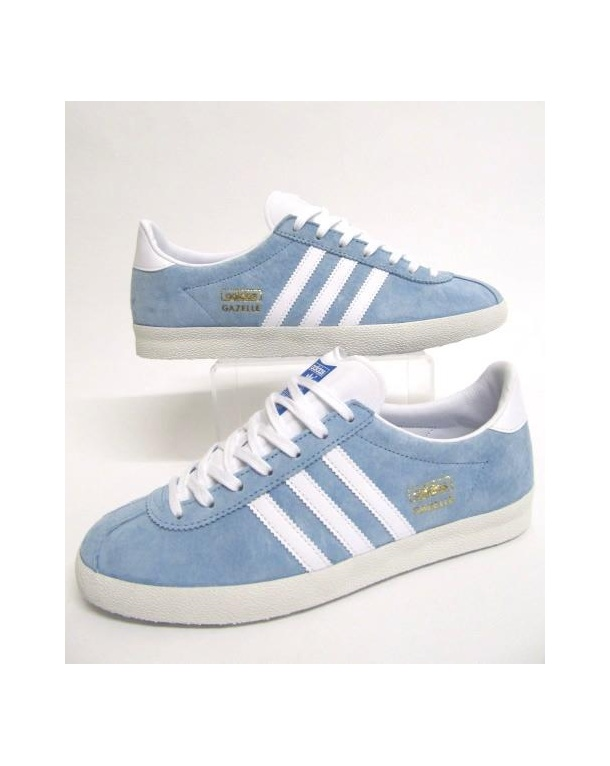 Adidas Gazelle Og Trainers Sky Blue/white