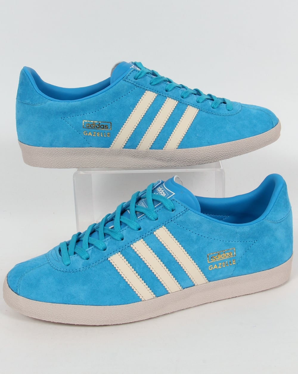 sports shoes d97b4 f70a1 adidas Trainers Adidas Gazelle OG Trainers Solar BlueWhite