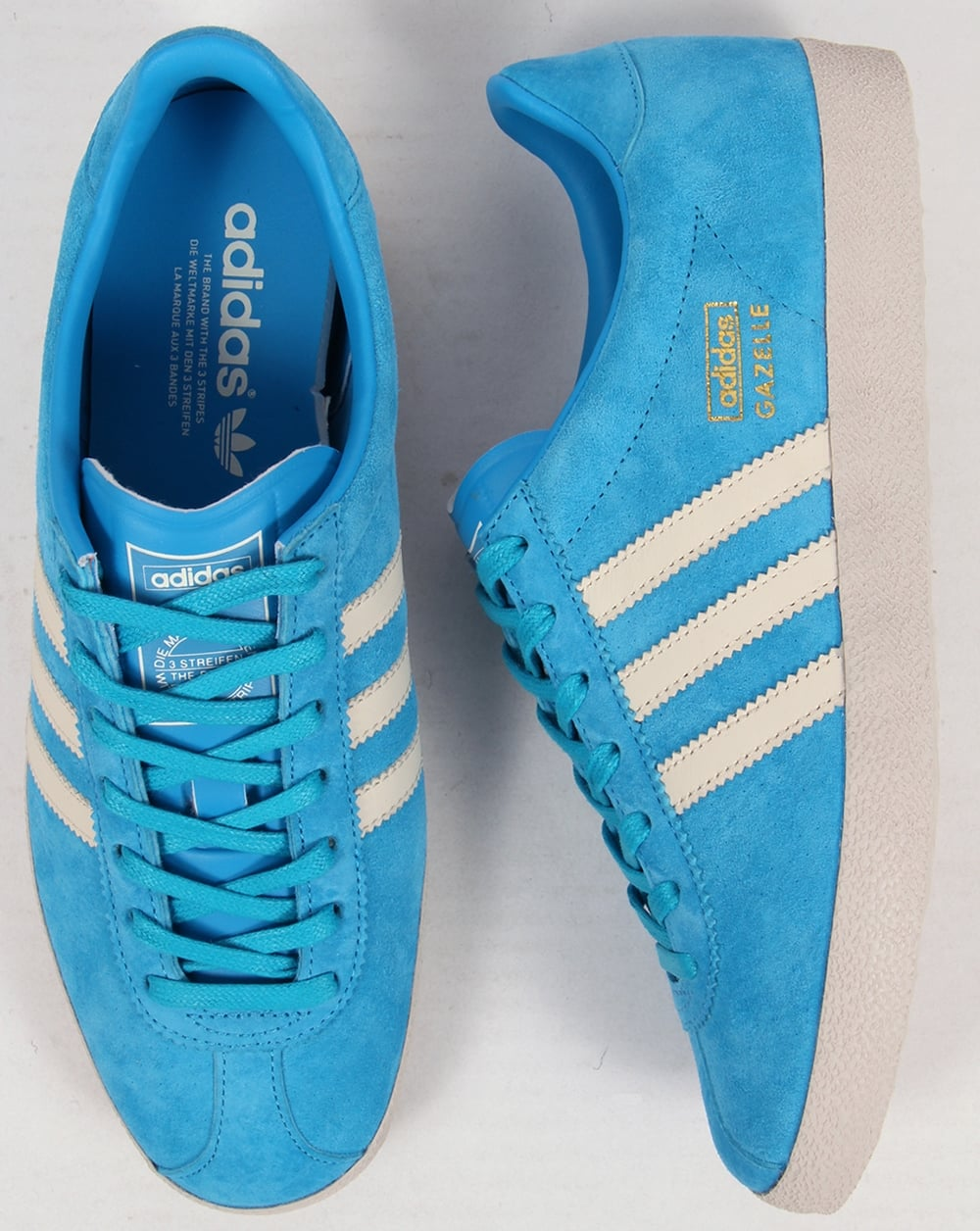 the latest 2ac1f 326de Adidas Gazelle OG Trainers Solar BlueWhite