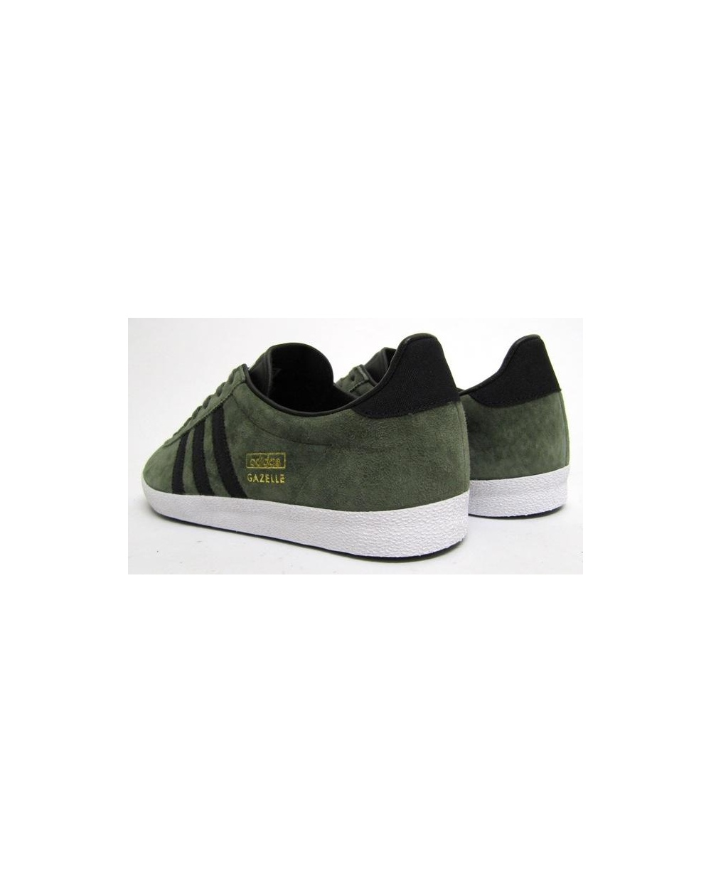 adidas gazelle green and black