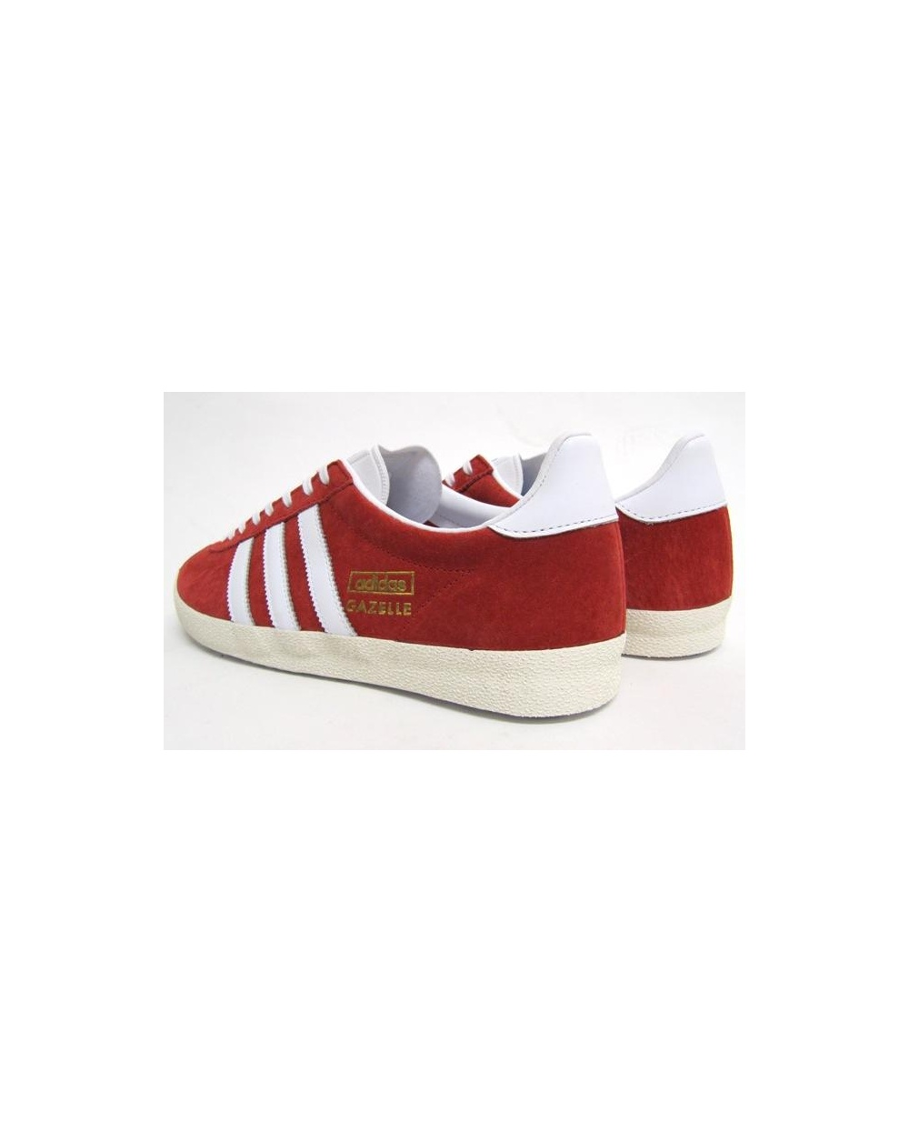 Mens Adidas Gazelle Og Trainers Red