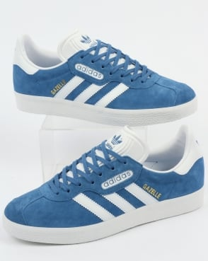 Adidas Gazelle Super Essential Trainers Trace Royal/white