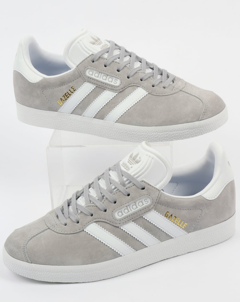 pretty nice 2b144 48213 adidas Trainers Adidas Gazelle Super Trainers Grey White