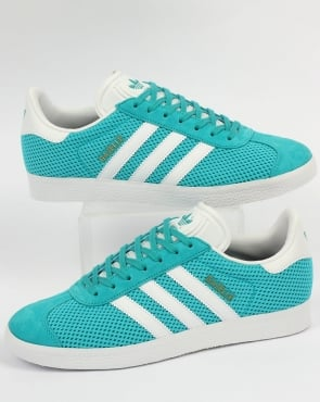 adidas Trainers Adidas Gazelle Textile Trainers Energy Blue/White