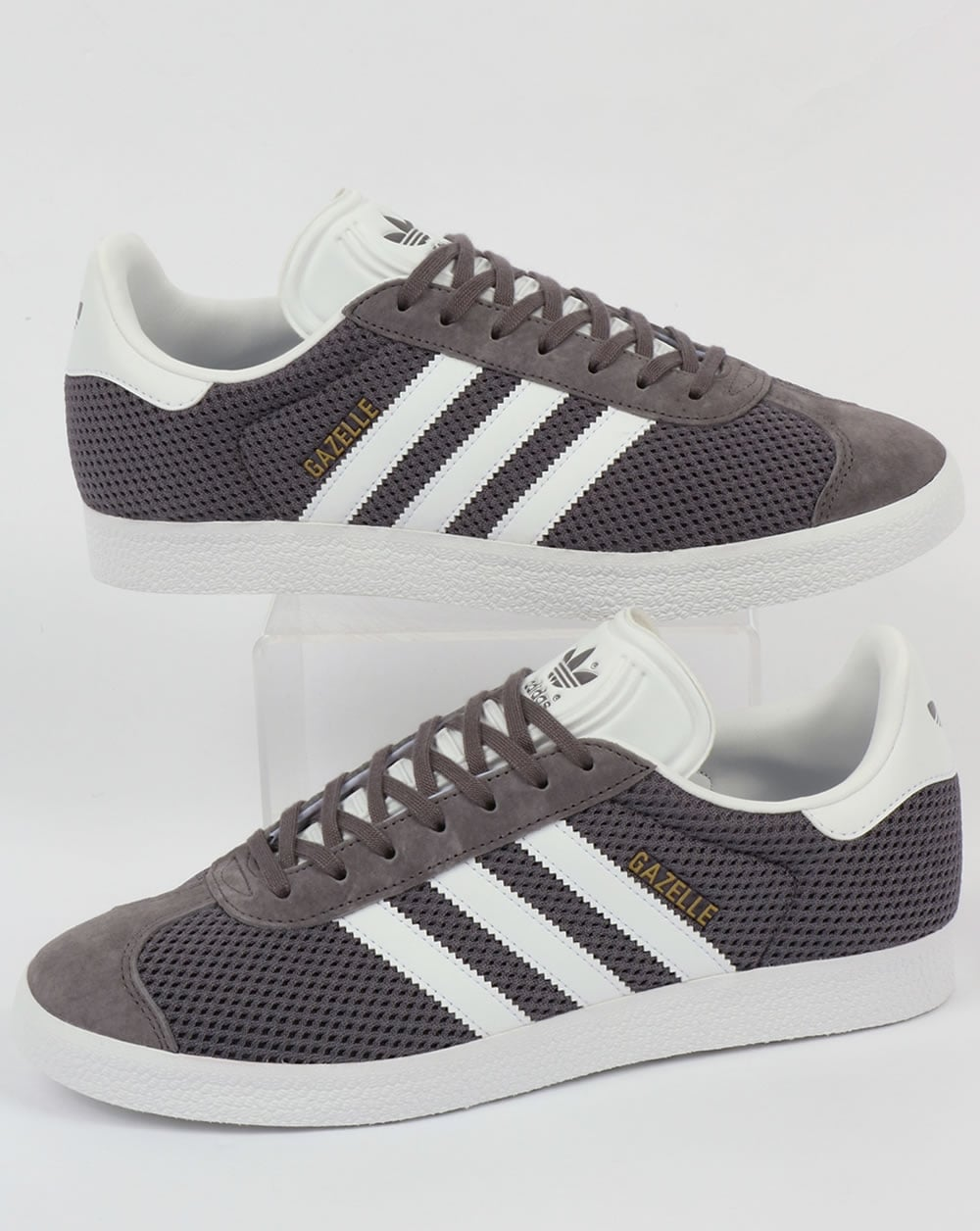 purchase cheap ce815 0794a adidas Trainers Adidas Gazelle Textile Trainers Trace GreyWhite