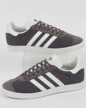 adidas Trainers Adidas Gazelle Textile Trainers Trace Grey/White