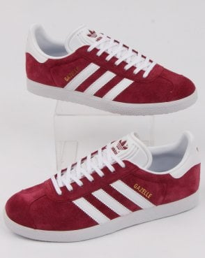 adidas Trainers Adidas Gazelle Trainer Burgundy/white
