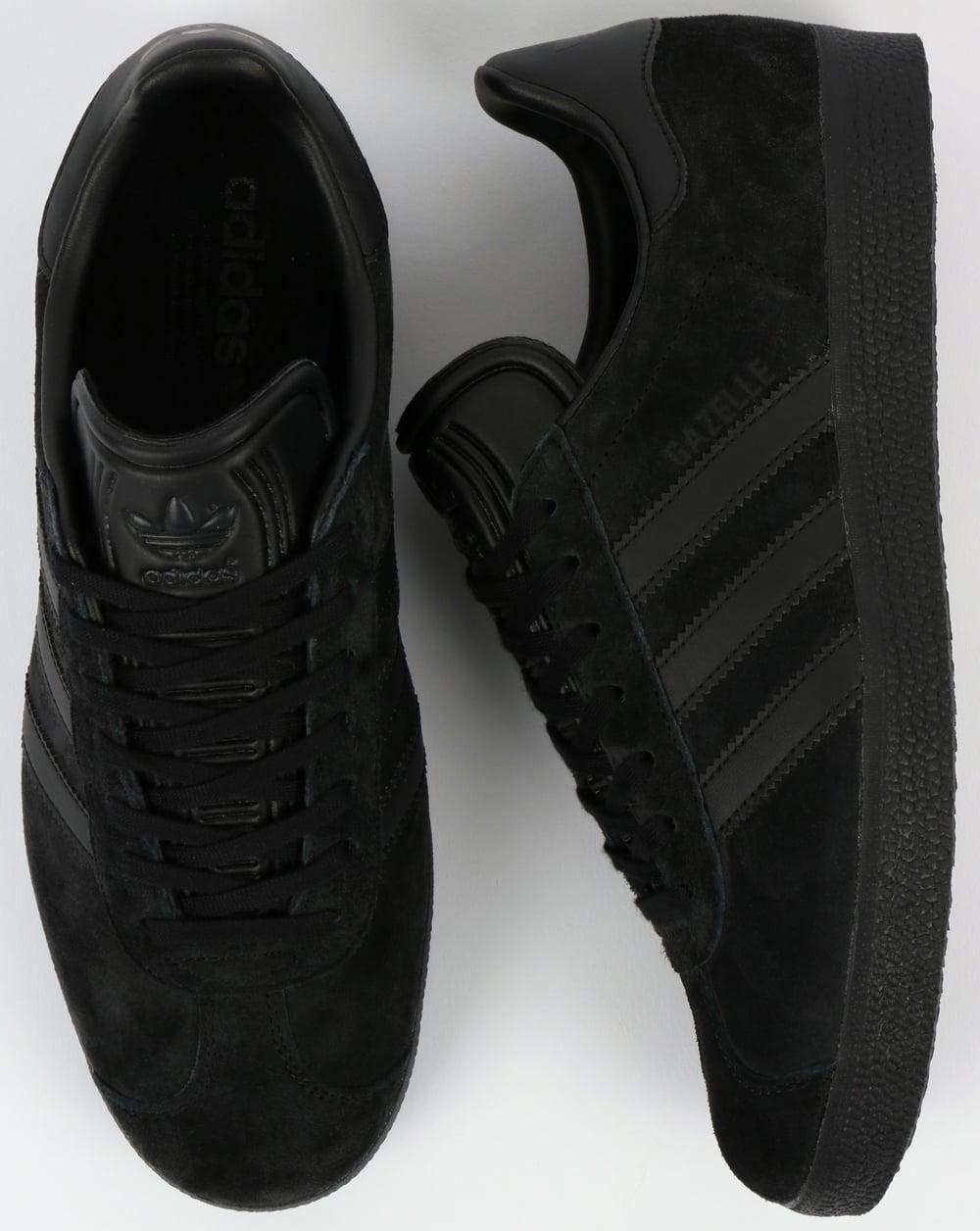 adidas gazelle all black suede
