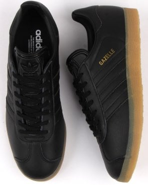 adidas Trainers Adidas Gazelle Trainers Black Leather Gum