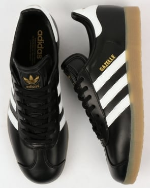 Adidas Gazelle Trainers Black/white/gum