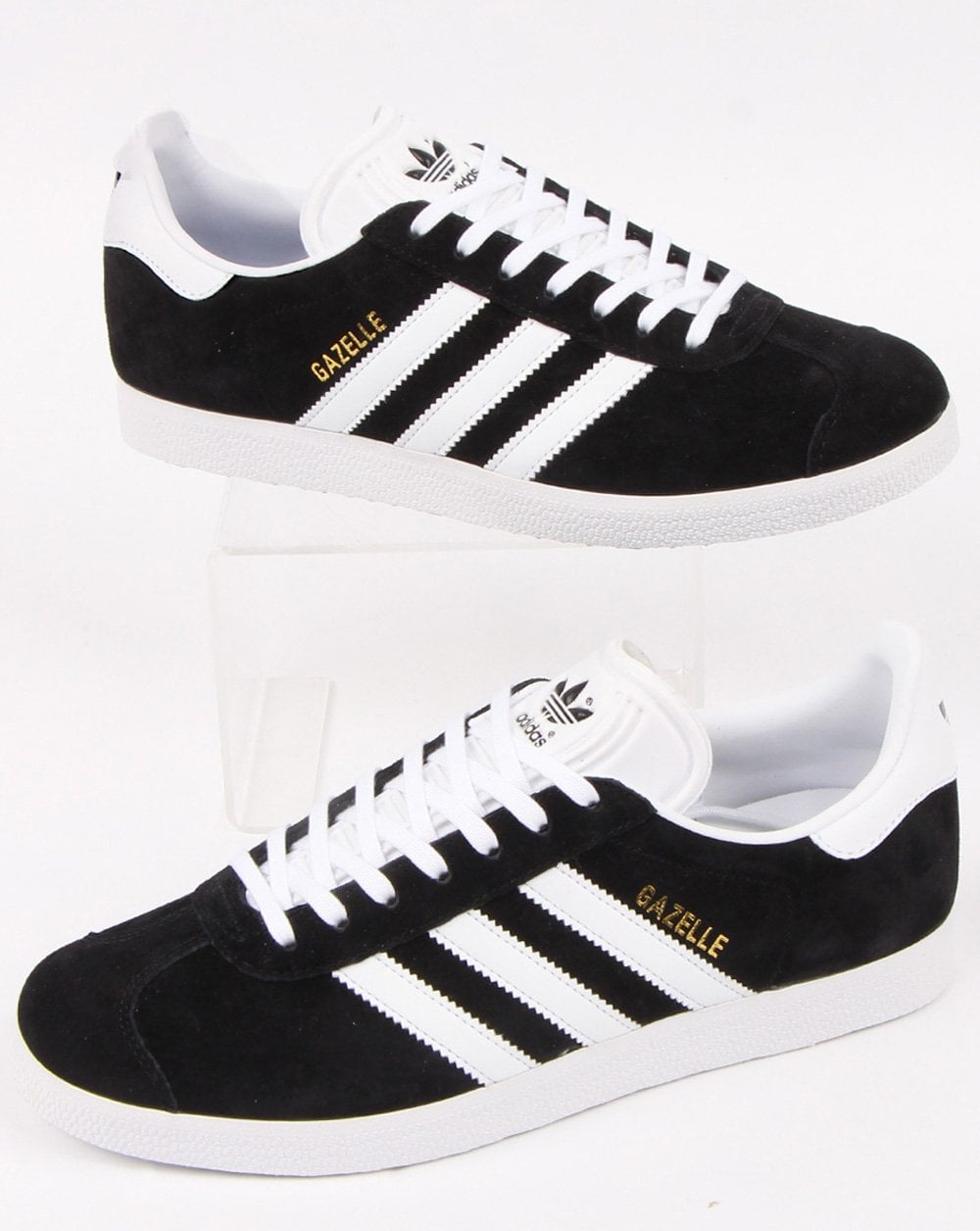 really cheap differently good quality Adidas Gazelle Trainers Black/White