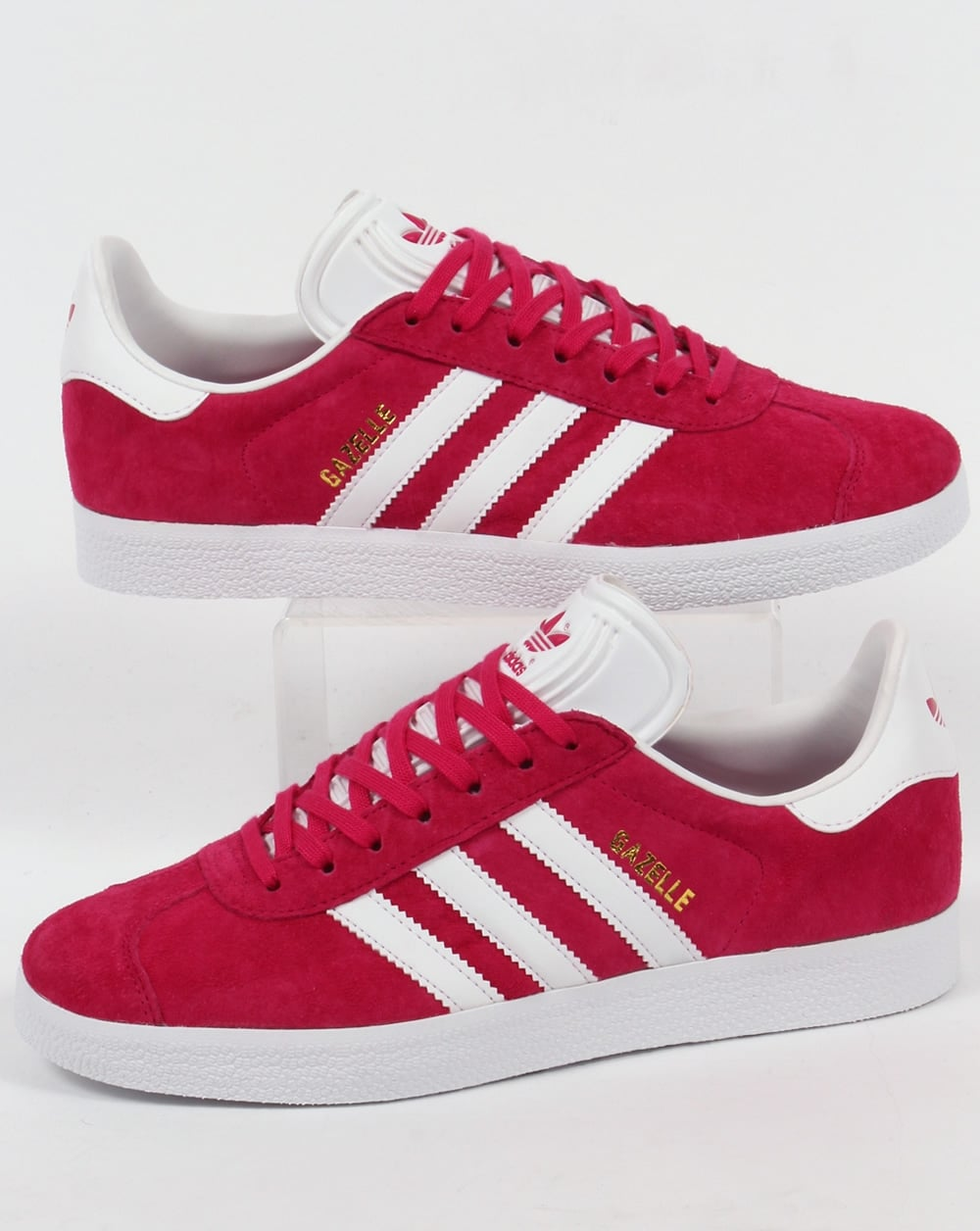 Adidas Gazelle Trainers Bold PinkWhite