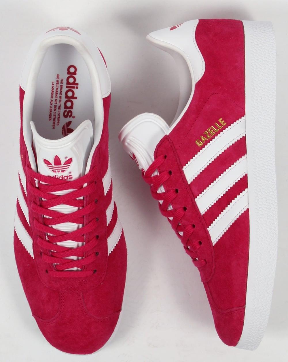nouveau style e06e5 17182 Adidas Gazelle Trainers Bold Pink/White