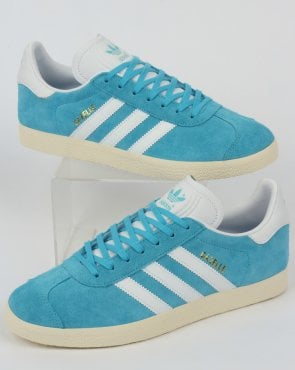 adidas Trainers Adidas Gazelle Trainers Bright Cyan/White